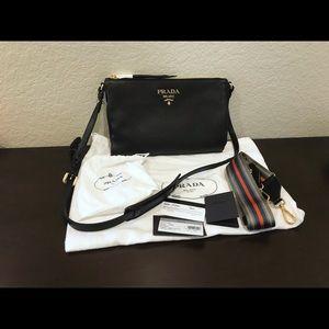 Prada Vitello Daino Shoulder Bag / Clutch